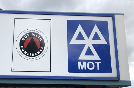 MOT station at Bradford Garage, Droylsden.