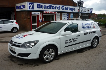 Bradford Garage on Edge Lane, Droylsden offer competitive rates for services, repairs & MOTs.